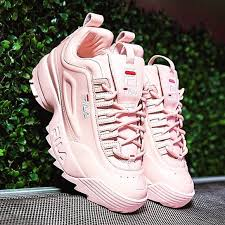fila disruptor 2 pink. fila shoes - xo barney\u0027s disruptor ii lux leather sneakers 2 pink