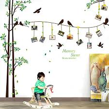 srhome large family tree wall sticker photo frames wall decal removable wall decor art stickers vinyl decals wall decor for living room bedroom diy photo