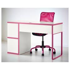 ikea office furniture desks. Beautiful White Ikea Micke Desk Plus Cool Pink Office Chair For Home Furniture Ideas Desks