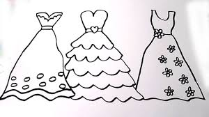 Small Picture Coloring Pages Dresses How To Draw Beautiful Dress For Girls
