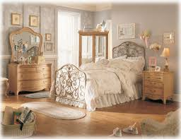 vintage looking bedroom furniture. Vintage Princess Bed With Wooden Furniture And Gray Textured Wallpaper. Purple Bedroom Design Looking H
