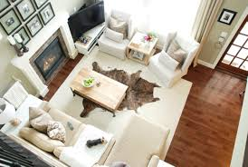 living room ideas with cowhide rug. comfortable living room design for small apartment ideas with white rug and elegant fireplace cowhide