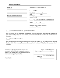notice to owner form florida notice of contest of lien florida to download editable fillable