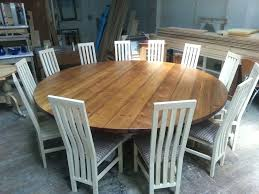 outdoor round dining table for 8 large hoop base bespoke chunky top furniture