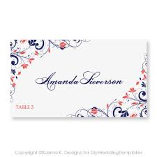 Place Card Template Download Instantly By Diyweddingtemplates 8 00