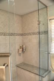 Shower Ideas - Custom tile shower with bench seat with granite top/