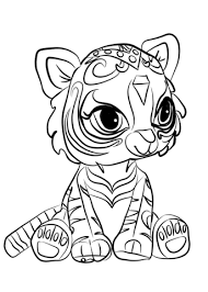 Nahal From Shimmer And Shine Coloring Page Free Printable Coloring