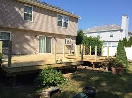 diy wood deck construction