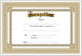 Certificate Of Recognition Template Word Free 8