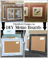 Kitchen Memo Boards Thrifted Art To Stylish DIY Memo Boards Diy Memo Board Board 89