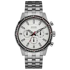 guess fuel multifunction mens watch w0801g1