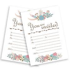jofanza jofanza wedding invitations 50 kits ivory fill in invitation cards bridal baby shower birthday party dinner invites enement graduation with