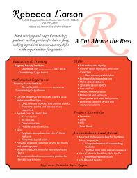Awesome Cosmetologist Resume Personel Profile Cosmetology