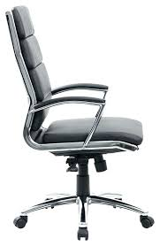 white chrome office chair black faux leather desk chair boss modern faux leather office chair chrome