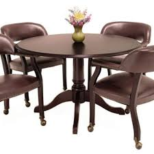 tradtonal round conference table and chars set meetng