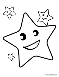Star Toy Coloring Page With A