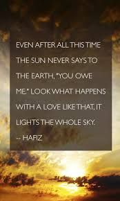 Hafiz Quote Poster A Love That Lights The Sky Classy Hafiz Quotes