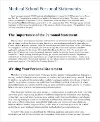 Medical School Essays Medical School Personal Statement Editing Personal Statement And