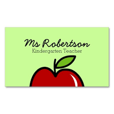 Apples To Apples Card Template Teacher Business Card Template With Red Apple Pinterest Teacher
