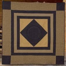 Mustard and Black Amish Center Diamond Quilt Project - Work in ... & Mustard and Black Amish Center Diamond Quilt Project - Work in Progress Adamdwight.com