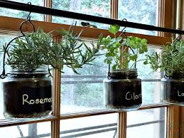 diy indoor hanging herb garden hang on rod and finished