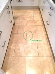 Travertine Kitchen Floor Tiles Cracked Travertine Tiled Kitchen Floor Maintained In Didsbury