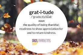 Giving Thanks For The Opportunity To Be Of Service Skol Marketing