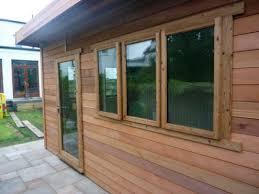 wooden office. Cedar Garden Office Edinburgh Scotland Wooden U
