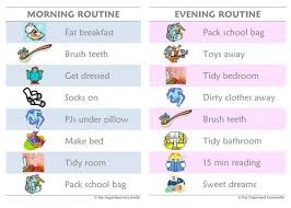 Kids Daily Routine Chart Chores And Routines