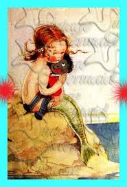 s387 Quilt Fabric Blocks Mermaid Book illustration Print Cotton ... & s387 Quilt Fabric Blocks Mermaid Book illustration Print Cotton Block for  Quilting 5 x 7 via Etsy   Where mermaids rest   Pinterest   Mermaid, ... Adamdwight.com