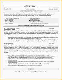 Construction Resume Objective Competent See Project Manager 4 For