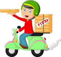 pizza delivery clipart.  Delivery Cartoon Pizza Delivery Boy Riding Motor Bike Stock Vector  38817205 Inside Pizza Delivery Clipart