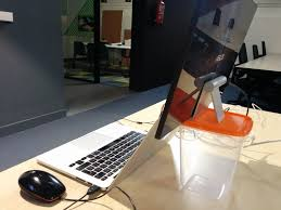 plastic ikea tupperware laptop stand