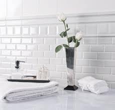 White Subway Tile Bathroom Design