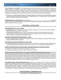 Microsoft Certification Resume Sample Professional Resume Templates