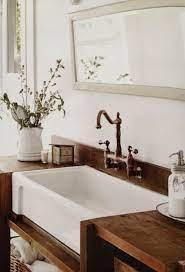 Wood Countertop Vanity Top Rustic Vanity Utility Sink Farmhouse Apron Sink I Would Lo Bathroom Farmhouse Style Farmhouse Bathroom Decor Bathroom Inspiration