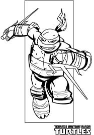 Teenage Mutant Ninja Turtles Coloring Pages Raphael Chases