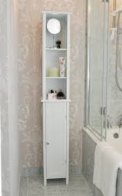 Tall White Shaker Style Bathroom Cabinet Free Standing Amazonco