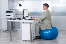 how to use an exercise ball chair plus standing desk tips healthstatus