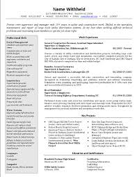 resume smart crew supervisor resume example construction job smart crew supervisor resume example construction job position profile also work experience