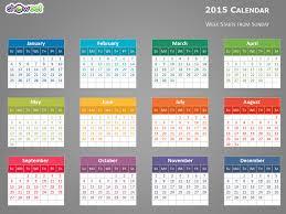 calendar template for powerpoint powerpoint calendar template 2015 colorful 2015 calendar for