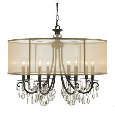 living trendy chandelier with shade and crystals 1 outstanding 19 drum new chandeliers shades images nice