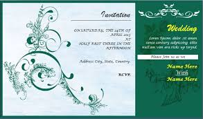Sample Invitation Cards Wedding Invitation Card Template For Ms Word Word Excel