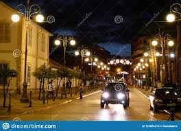 Special Lights Larnaca Blue Hour On The Streets Of Larnaca Close To The City