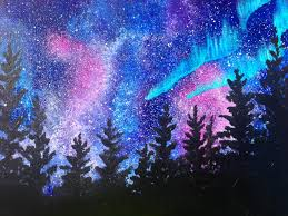 beginners learn to paint acrylic aurora borealis landscape the art sherpa you