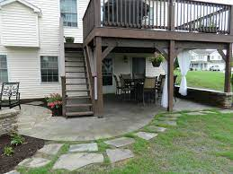 patio under deck with separate firepit