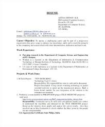 Resume For It Computer Science Fresher Resume Computer Science ...