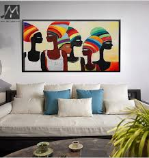 Painting Canvas For Living Room Aliexpresscom Buy Large African Woman Painting Canvas Acrylic
