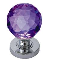 glass door knobs. Simple Knobs Jedo Collection Purple Facetted Glass Mortice Door Knobs Polished Chrome  Satin Chrome Or Throughout Knobs