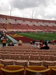 Los Angeles Memorial Coliseum Section 110b Home Of Usc